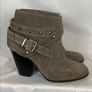 Julianne Hough for Sole Society booties suede gray